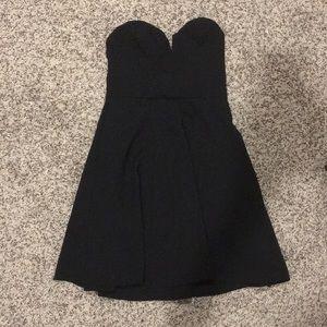 H&M black strapless skater dress